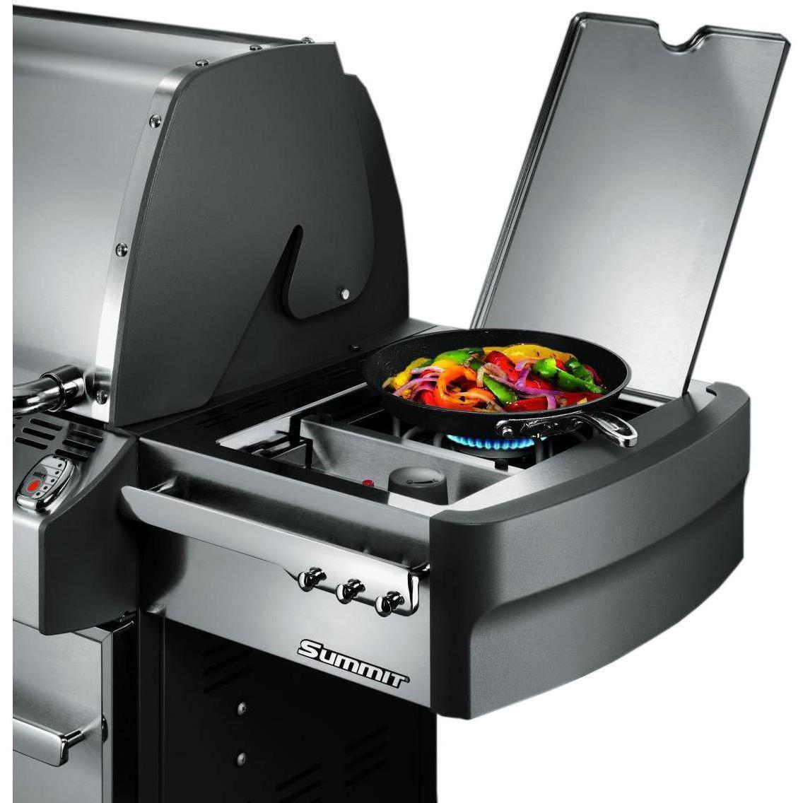 Weber Summit S-670 Propane Gas Grill With Rotisserie, Sear Burner & Side Burner - 7370001