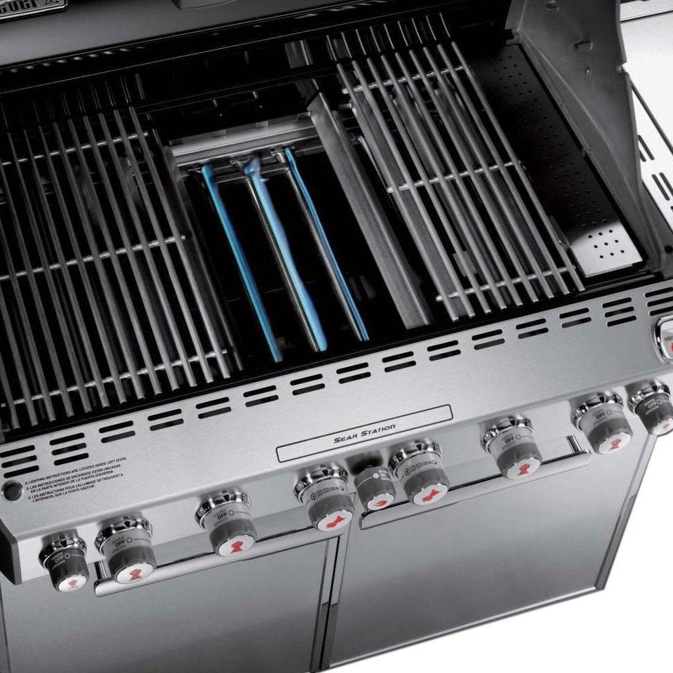 Weber Summit S-670 Propane Gas Grill With Rotisserie, Sear Burner & Side Burner - 7370001