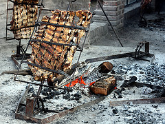 asado barbecuing