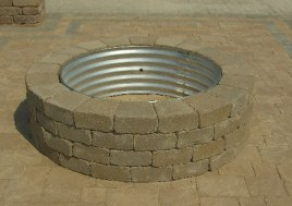 brick built barbecue fire pit