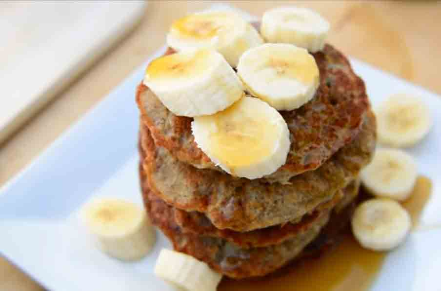 Buckwheat banana pancake