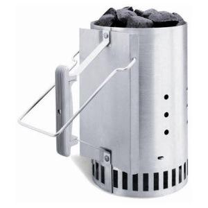 BBQ charcoal starter chimney