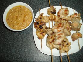 Chicken Satay and Sauce