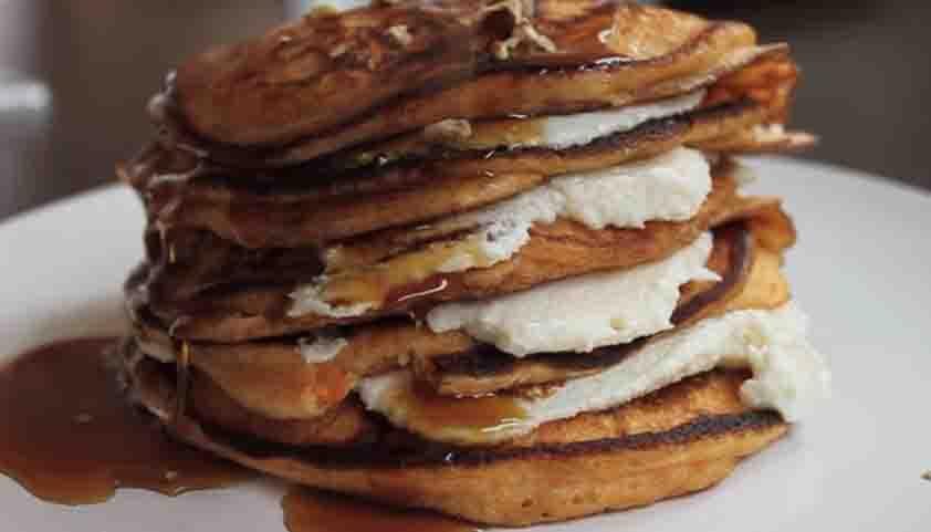 sweet potato pancake with ricotta