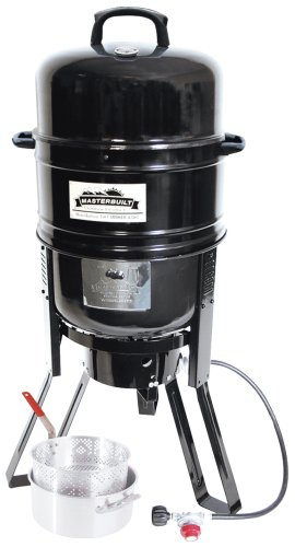 Masterbuilt M7P 7-in-1 Smoker and Grill with Pan and Basket Set